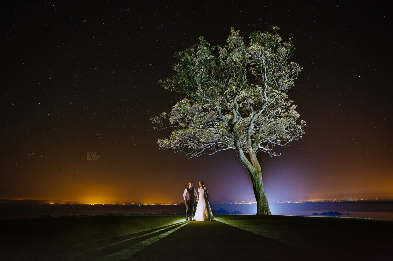 redcastle donegal night shot wedding